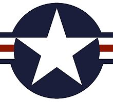 Roundel of the United States Air Force and aircraft operated by the United States Navy and United States Marine Corps by TOM HILL - Designer