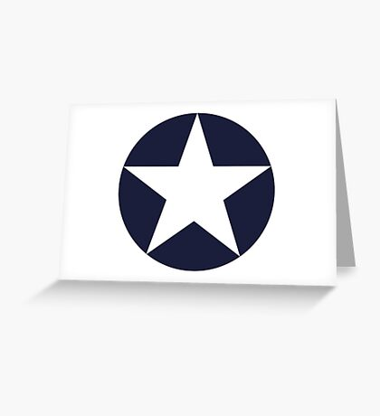 AMERICAN, WAR, Roundel, United States Air Force, Aircraft operated by the United States Navy and United States Marine Corps Greeting Card