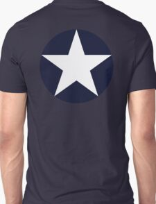 AMERICAN, WAR, Roundel, United States Air Force, Aircraft operated by the United States Navy and United States Marine Corps Unisex T-Shirt