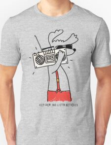 hipster music dog Unisex T-Shirt
