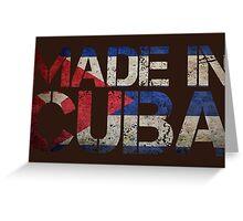 Cuba Cuban Flag Greeting Card