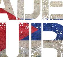 Cuba Cuban Flag Sticker