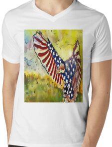 Majestic Eagle Mens V-Neck T-Shirt