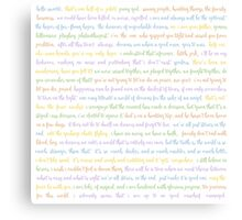 Fandom Words Canvas Print