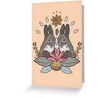 squirrel love Greeting Card