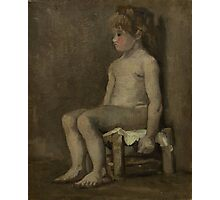 Vincent Van Gogh - Nude girl, seated, April 1886 - June 1886 Photographic Print