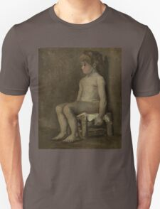 Vincent Van Gogh - Nude girl, seated, April 1886 - June 1886 Unisex T-Shirt
