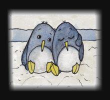 Cuddling Penguins Baby Tee