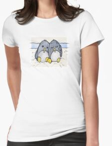 Cuddling Penguins Womens Fitted T-Shirt