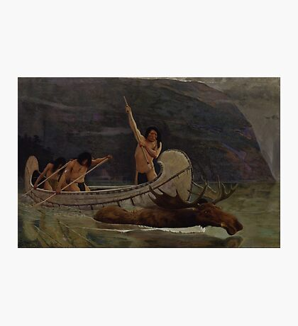 The Moose Chase , George de Forest Brush Photographic Print