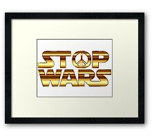 Star Wars Peace Hippie Framed Print