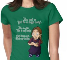 A Girl in a Girl's Body shirt Womens Fitted T-Shirt