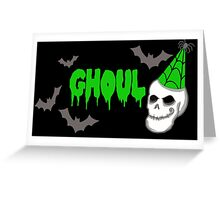 Green Ghoul Greeting Card