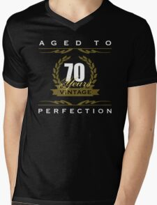 Vintage 70th Birthday Mens V-Neck T-Shirt