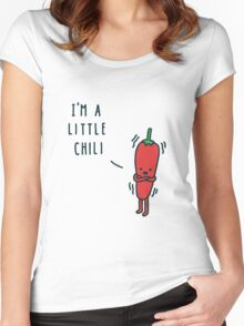 Chili Cartoon Women's Fitted Scoop T-Shirt