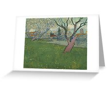 Vincent Van Gogh - Orchards in blossom, view of Arles Greeting Card