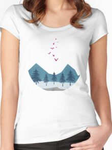 Birds flying high  Women's Fitted Scoop T-Shirt