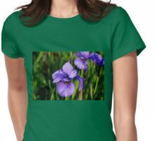Dew Kissed Iris Womens Fitted T-Shirt