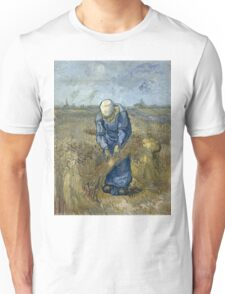 Vincent Van Gogh - Peasant woman binding sheaves, after Millet Unisex T-Shirt
