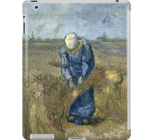 Vincent Van Gogh - Peasant woman binding sheaves, after Millet iPad Case/Skin