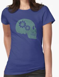 Skull Gears Turnin' Womens Fitted T-Shirt