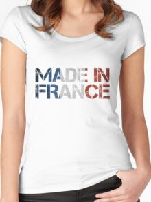 France French Flag Women's Fitted Scoop T-Shirt