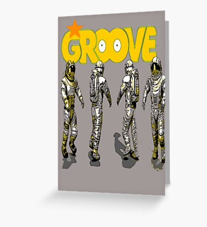space groove.. Greeting Card