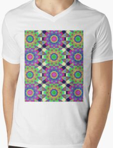 Psychdelic kaleidoscope Mens V-Neck T-Shirt