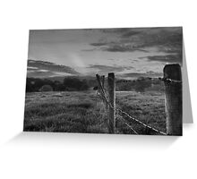 Barbed wire, angry sky.  Greeting Card