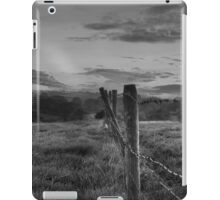 Barbed wire, angry sky.  iPad Case/Skin