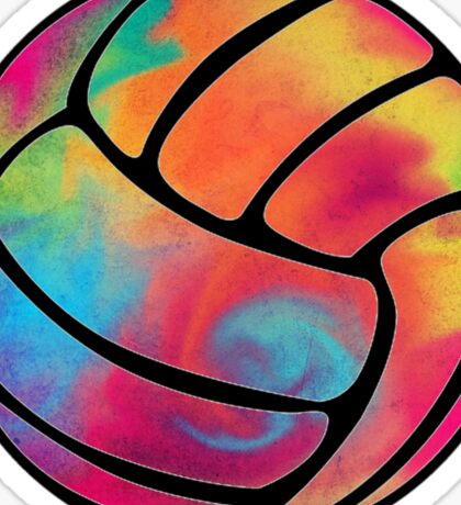 Rainbow Volleyball Sticker