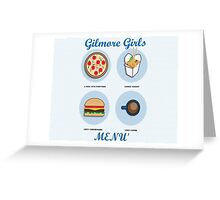 Gilmore girls-menù Greeting Card