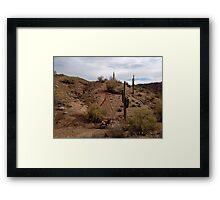 Desert Dirt Bike Framed Print