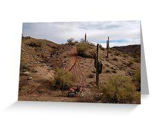 Desert Dirt Bike Greeting Card