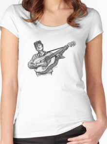 Bob Dylan (guitar) Women's Fitted Scoop T-Shirt