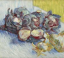 Vincent Van Gogh - Red cabbages and onions, October 1887 - November 1887 by famousartworks