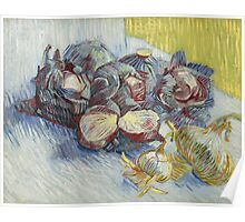 Vincent Van Gogh - Red cabbages and onions, October 1887 - November 1887 Poster