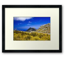 the power of blue color Framed Print