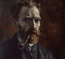Vincent Van Gogh - Self-portrait with pipe, September 1886 - November 1886 by famousartworks