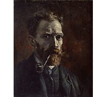 Vincent Van Gogh - Self-portrait with pipe, September 1886 - November 1886 Photographic Print