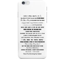 I Do Geek - Version 1 iPhone Case/Skin