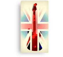 British Guitar Fender Canvas Print