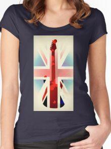 British Guitar Fender Women's Fitted Scoop T-Shirt