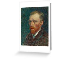 Vincent Van Gogh - Self-Portrait, 1887  Impressionism Greeting Card