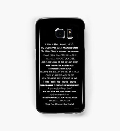 I Do Geek - Version 1 B&W Samsung Galaxy Case/Skin