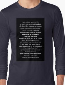 I Do Geek - Version 1 B&W Long Sleeve T-Shirt