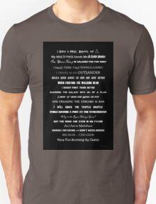 I Do Geek - Version 1 B&W Unisex T-Shirt