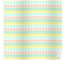 Scallop Pattern Repeat in 'Miami' Pastel Tones 8-Colorway Poster