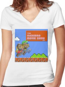 The MexiBro Movie Show Merch! Women's Fitted V-Neck T-Shirt