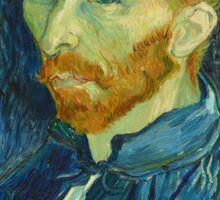 Vincent Van Gogh - Self-Portrait, 1889  Impressionism Sticker